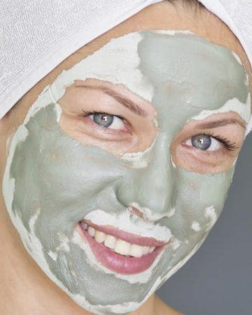 green tea face mask made with matcha