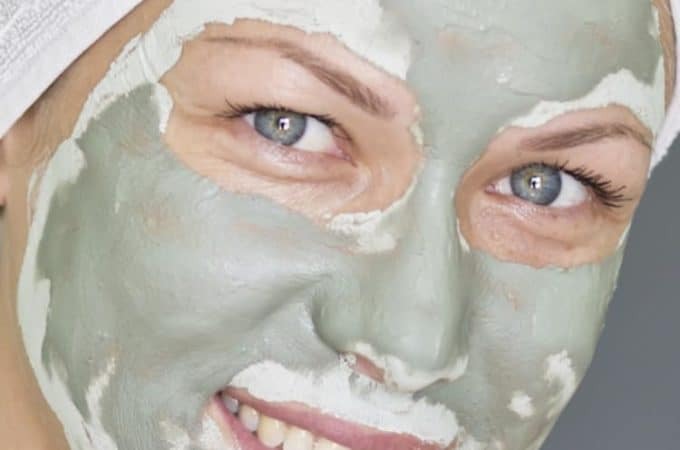 green tea face mask made with matcha