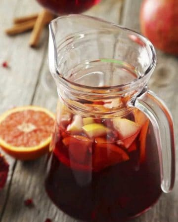 Easy Sangria Recipe with sweet tea and limoncello