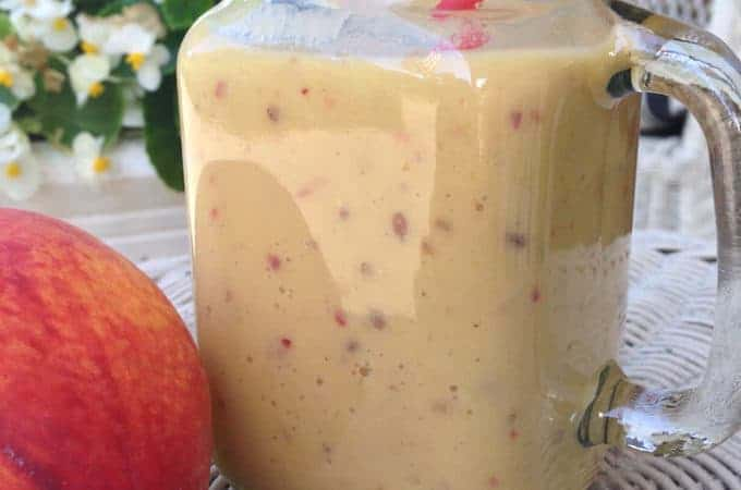 Super Fruit Mango Peach Tea Smoothie