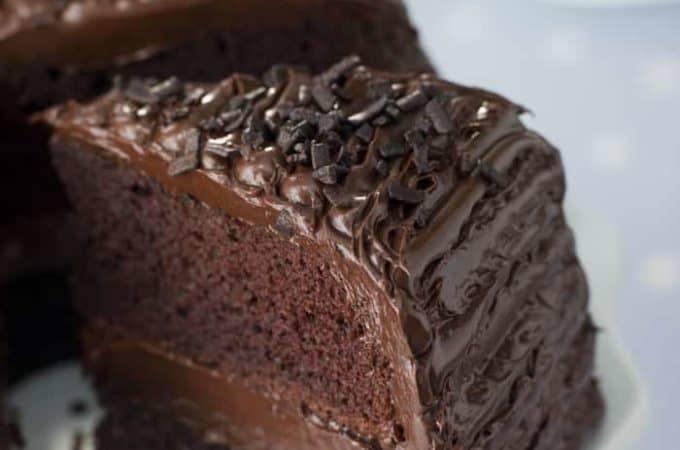 Slice Of Chocolate Tea Cake