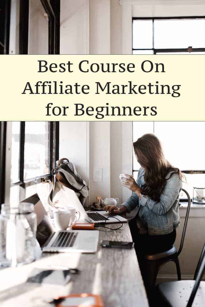 best course on affiliate marketing for beginners girl working at computer