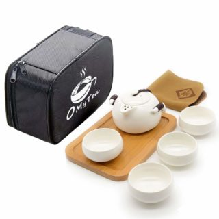 travel with tea portable gong fu tea set with case