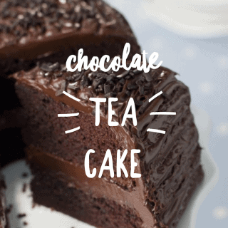 Slice of Chocolate Tea Cake