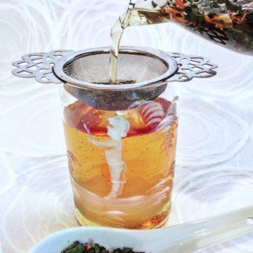 Cold Brew Tea - white tea, jasmine pearl and rosebuds