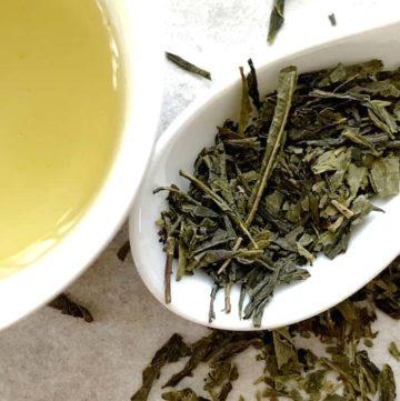 Sencha Japanese Tea Dried Leaf and Liquor Japanese Green Tea