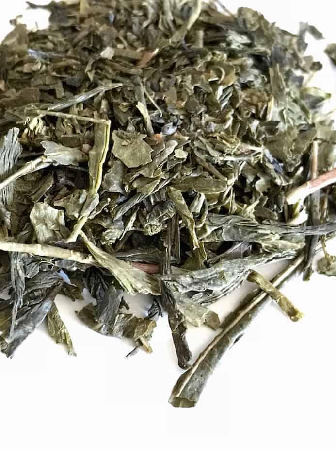 sencha dried Japanese Green Tea leaves