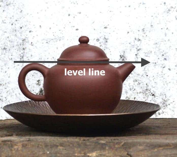 clay tea pot level line yixing teapot