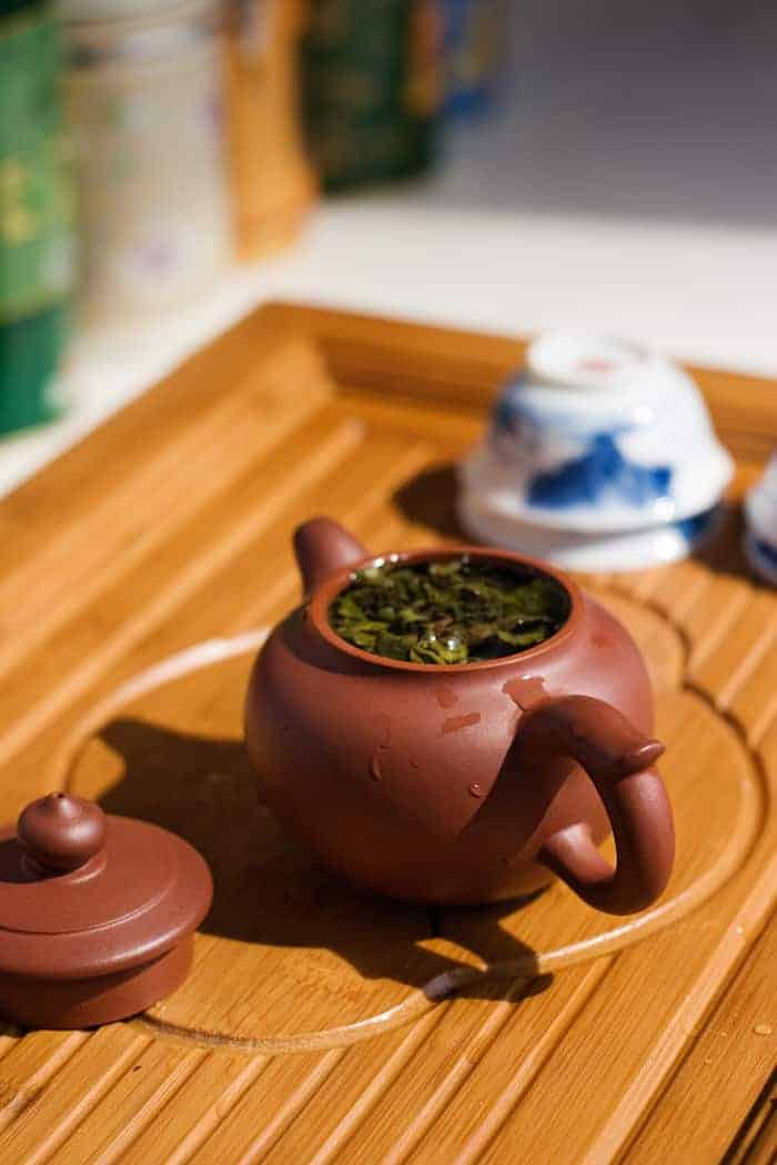 yixing teapot purple clay brewing oolong