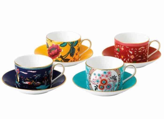 4 tea cup gift set