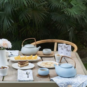 Zens Lifestyle Outdoor Cobblestone Tea Set