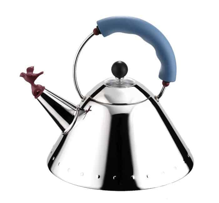 Tea kettle with bird whistle tea gift