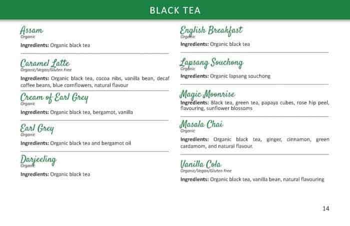 TeaLife Classic teas