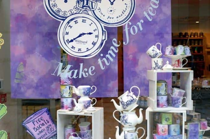 start a tea business store front with tea pots
