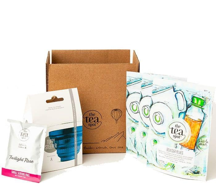 tea subscription box from the tea spot