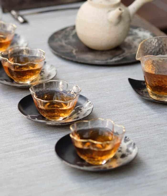tea tasting tea business teas lined up in cups