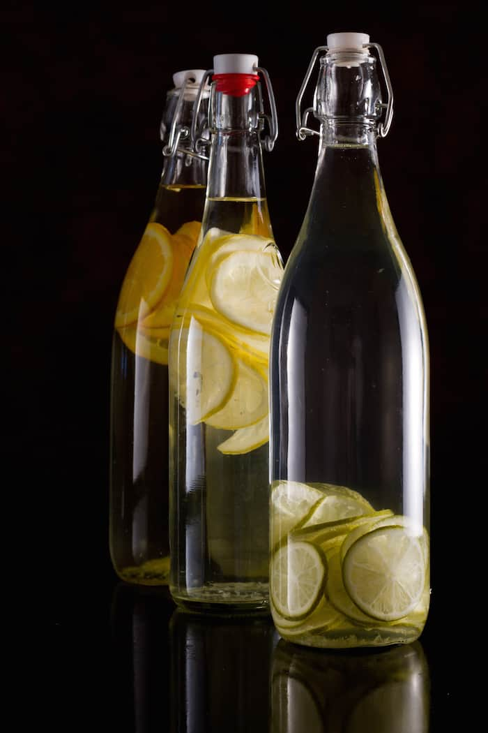 citrus infusion in bottles infused vodka