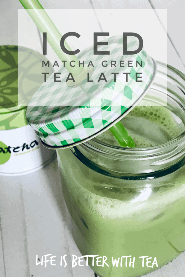 You can make this iced matcha green tea latte in two minutes! Maybe even less. I can\'t think of a better way to get matcha tea benefits. Plus it\'s absolutely delicious! #tea #matcha #greentea #tearecipe #icedtearecipe #icedtea