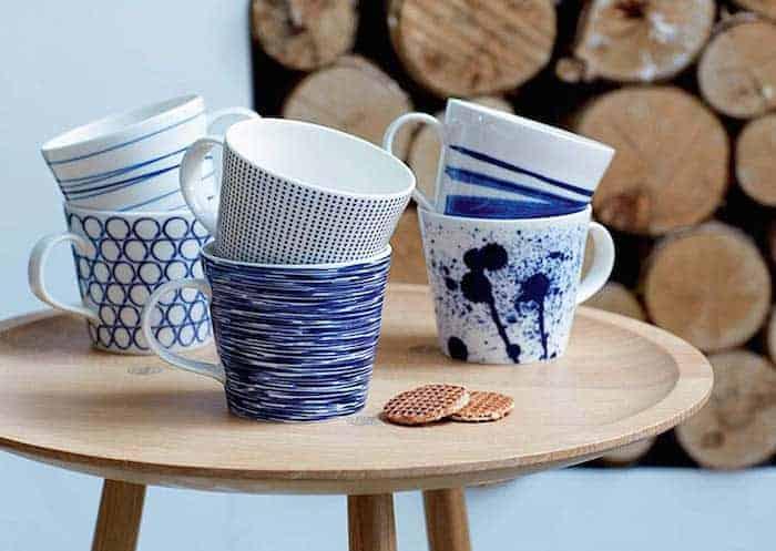 Royal Dalton Blue and White tea cup set