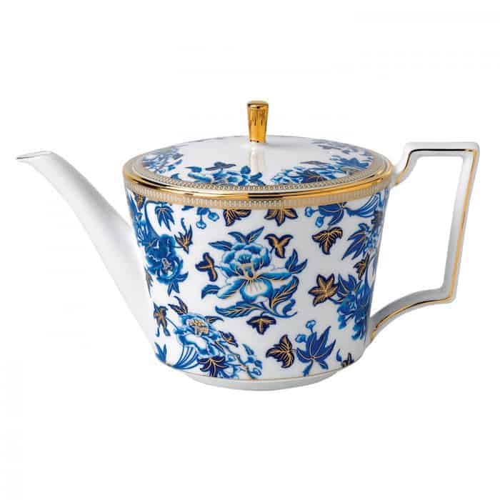 teapot hibiscus flowers by wedgwood