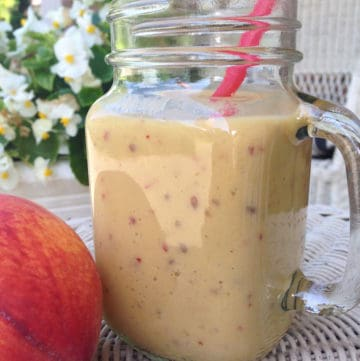mango peach tea smoothie