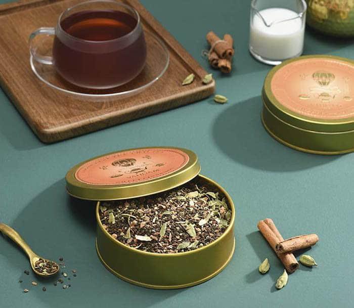 chai tea in tin