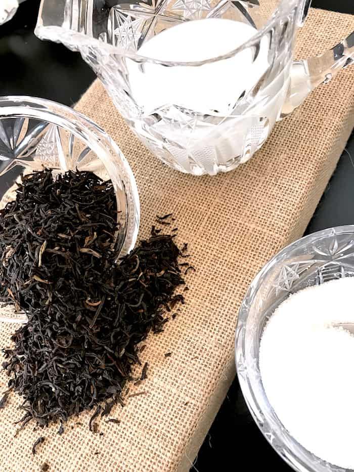 assam tea milk and sugar for royal milk tea