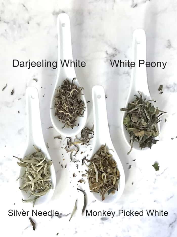 white tea variety dry leaf