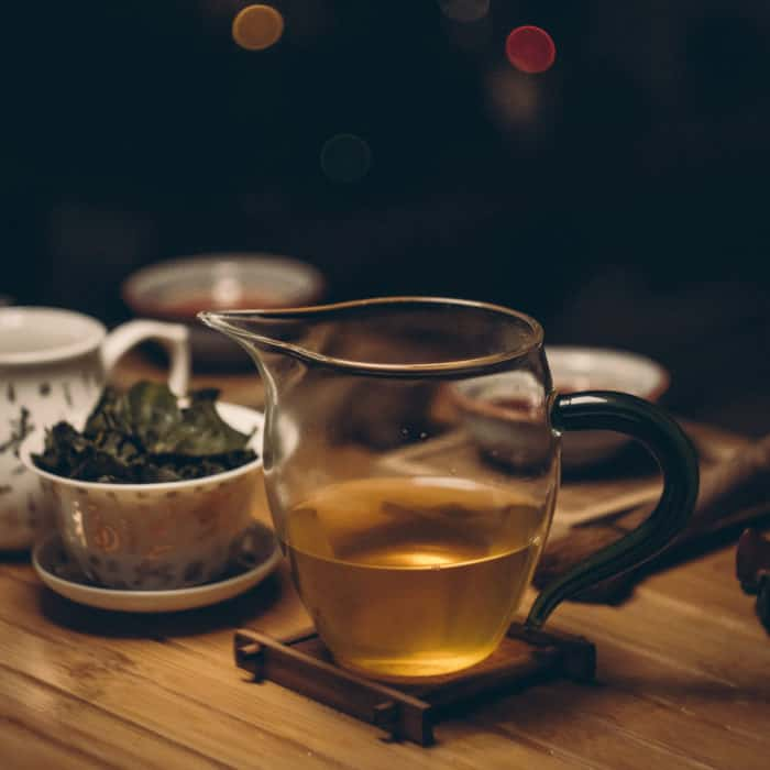 oolong tea in sharing pitcher