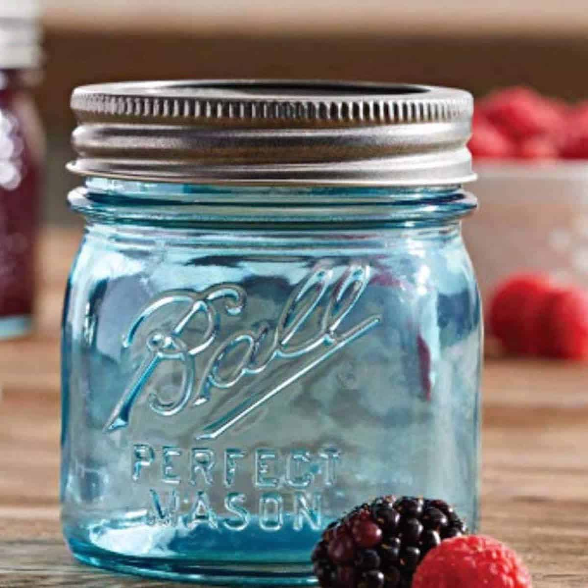 Ball mason jar for jam