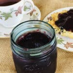 earl grey jam with tea and biscuit