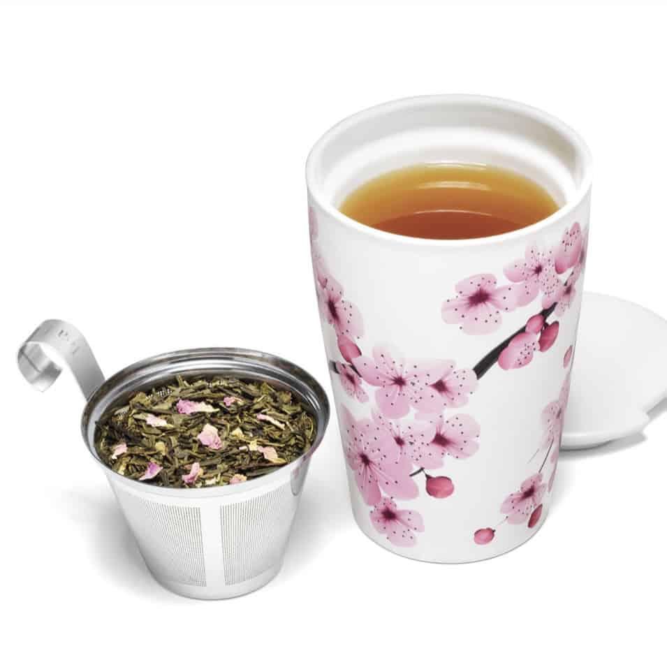 tea to Go Tea Forte floral infuser mug