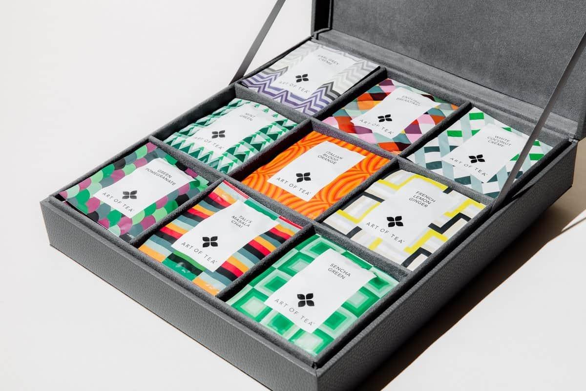 art of tea gift bag box tea box container for tea bags