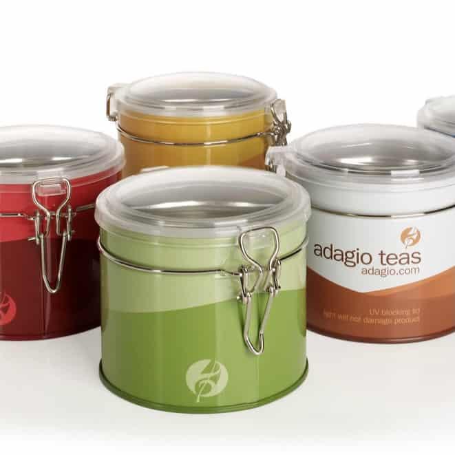 Adagio tea storage containers
