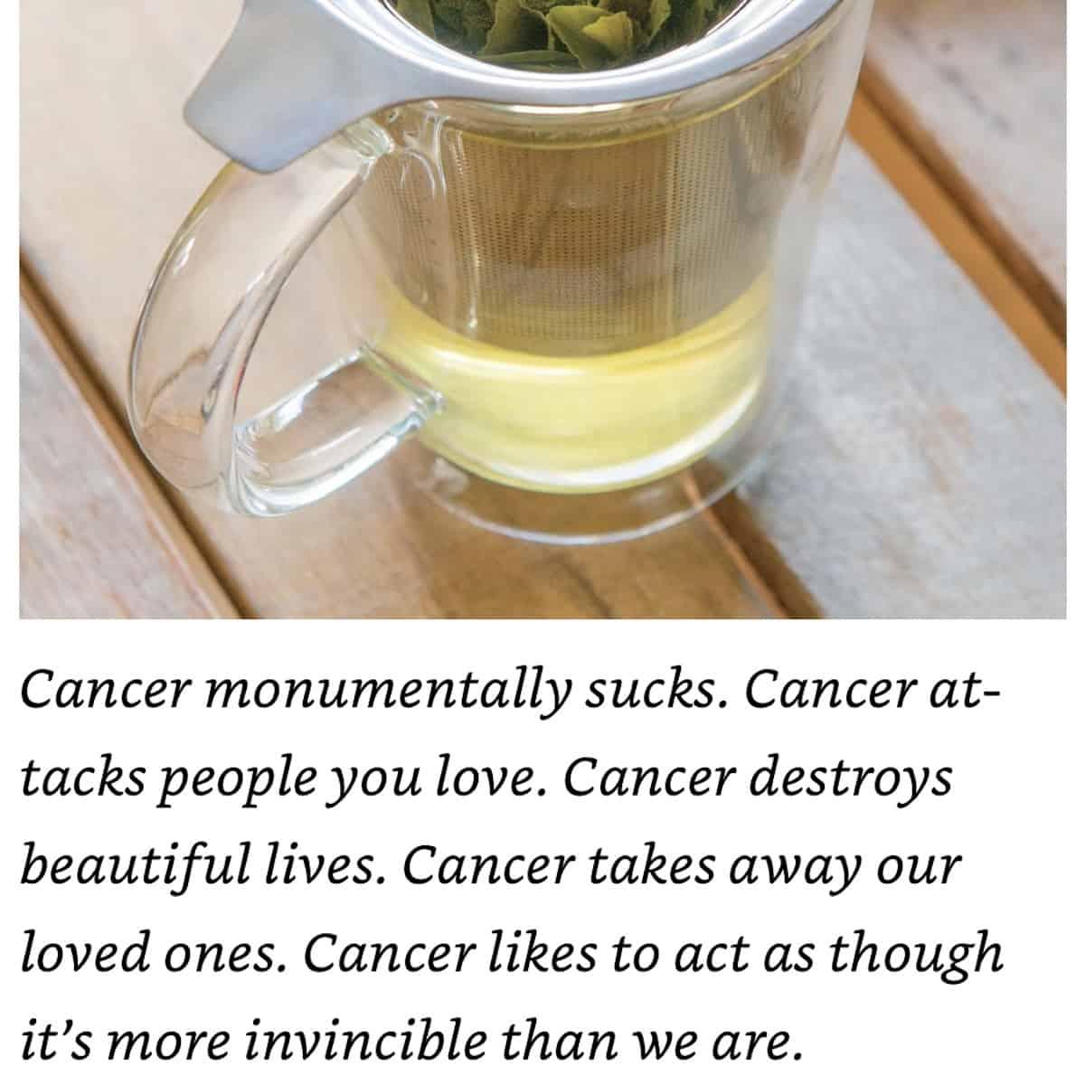 Cancer Hates Tea Book excerpt